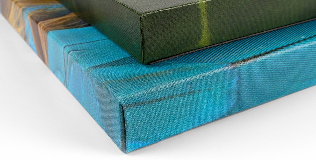 image showing two stacked canvas wrap prints
