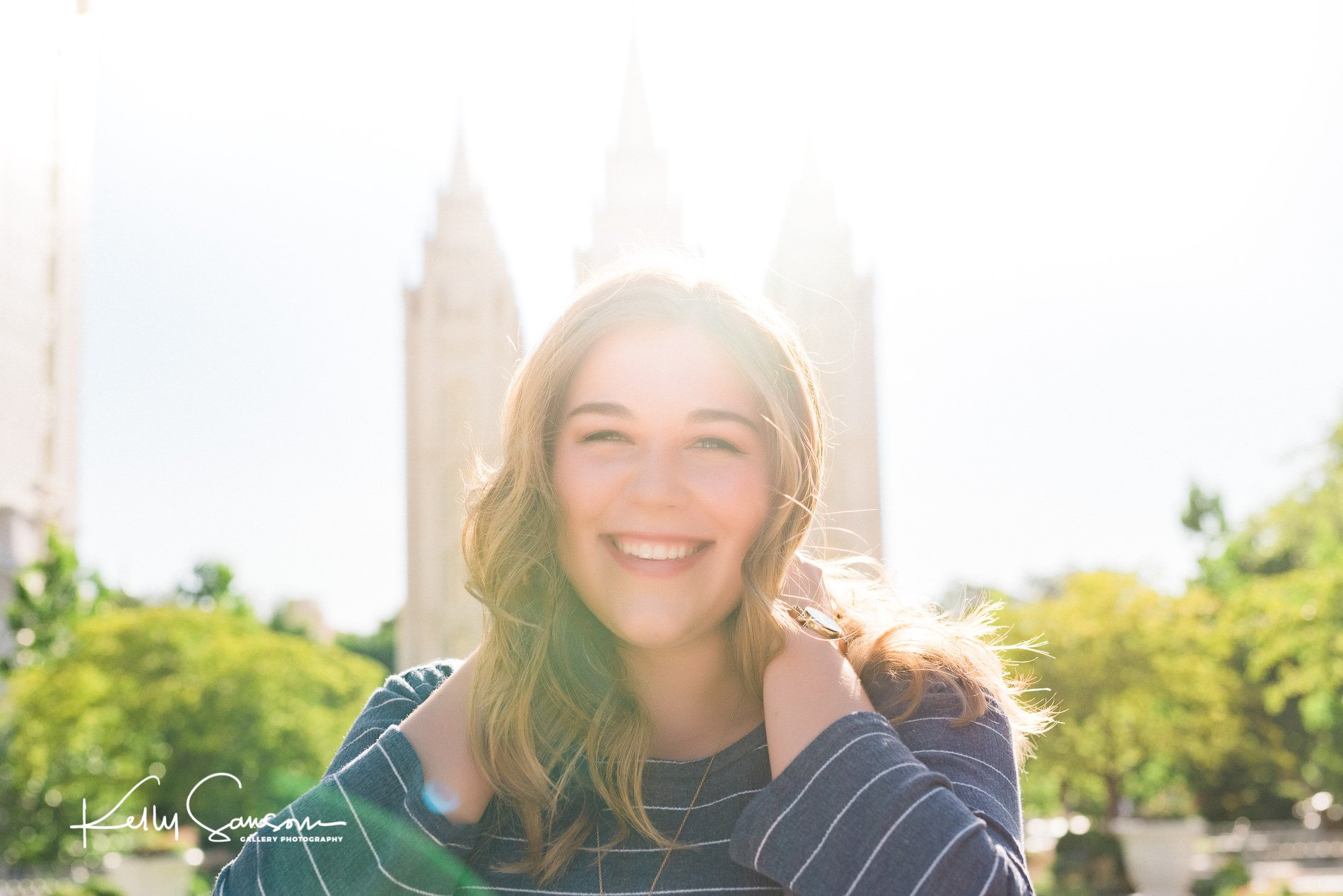 Allie Missionary Photography at Temple Square