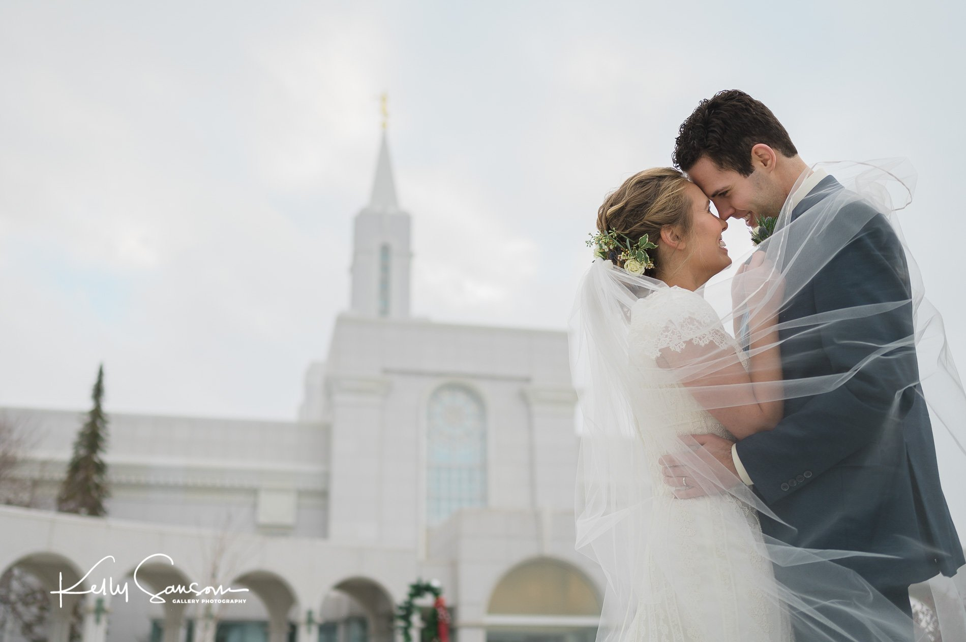 Rebekah and Kyle Wedding Photography at the Salt Lake Temple