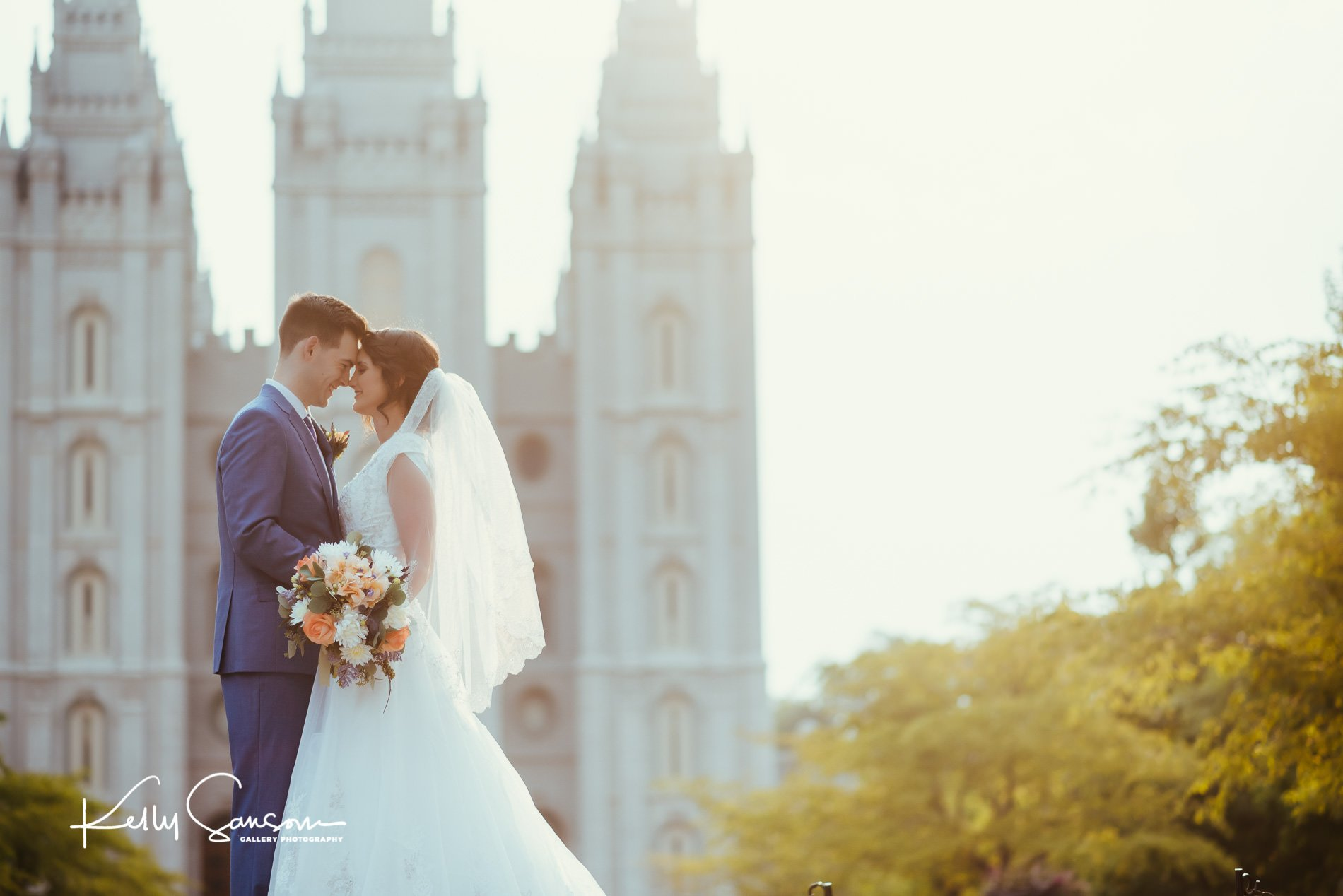 Jacquie and Zack Wedding Photography at the Salt Lake Temple