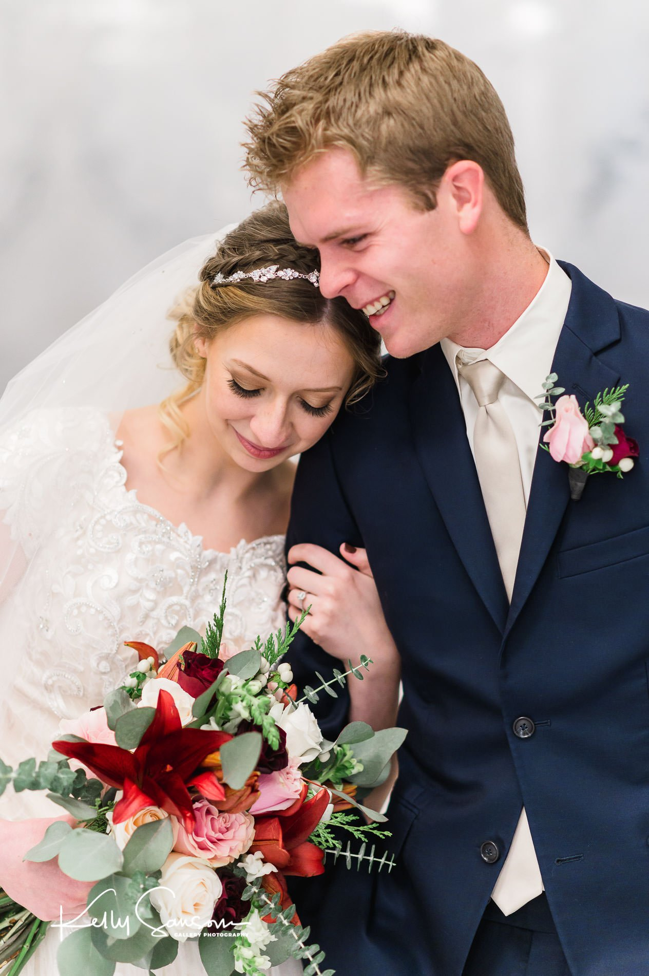 Caroline and Nick Bride and Groom Photography at the Utah State Capitol